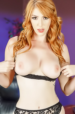 Playful Chick Lauren Phillips Strips Black Lingerie