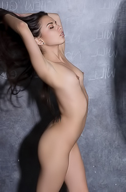 Naked Glamour Brunette Dominique Gabrielle