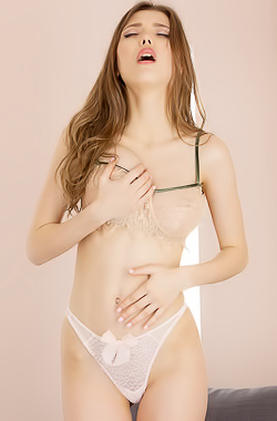 Mila Azul Spreading Her Legs For Fingers Play