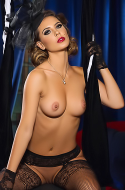 Gia Ramey-Gay puts on a sizzling hot striptease