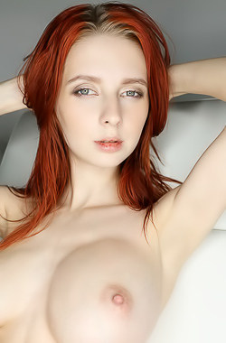 Chest, pale redhead with big tits