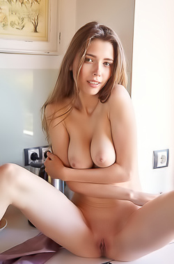 Mila Azul - Starting her morning off having naked fun